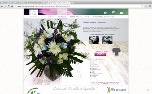 Charmant bouquet gourmand... Fleurs et chocolats: le meilleur mariage !